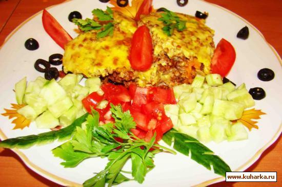 Рецепт Запеканка из гречки и баклажан