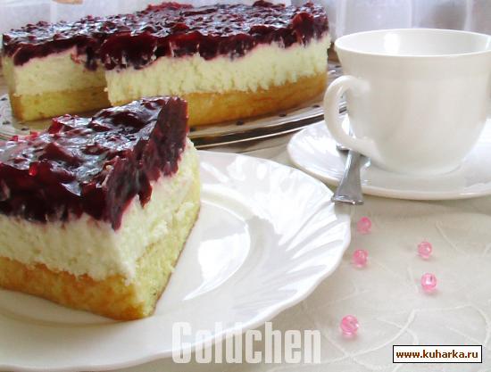 Рецепт Холодный вишнёвый торт
