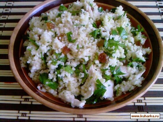 Рецепт Табуле с курицей и изюмом