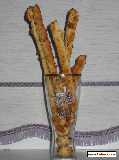 Рецепт Сырные палочки к пиву