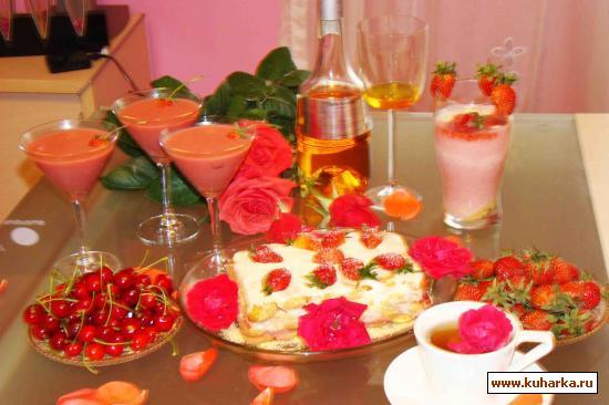 Рецепт Холодный клубничный торт