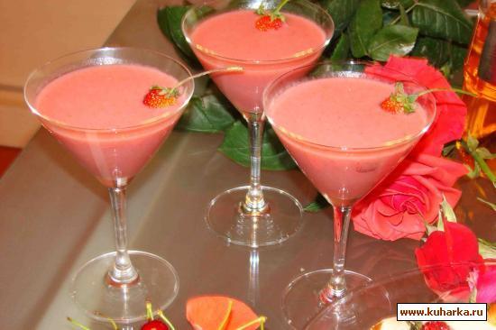 Рецепт Молочный коктейль с клубникой