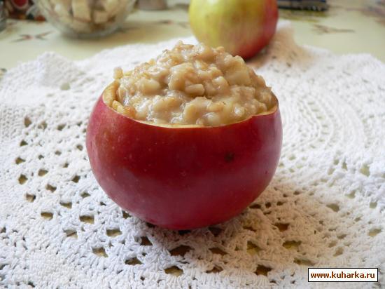 Рецепт Овсянка в яблоке.