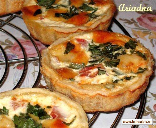 Рецепт Тарталетки с помидорами и сыром