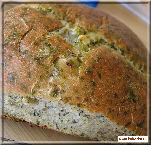 Рецепт Хлеб со шпинатом
