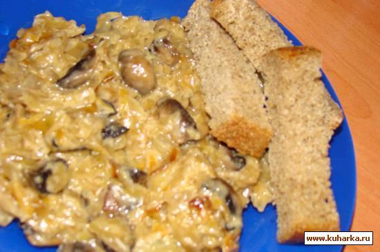 Рецепт Квашеная капуста с грибами