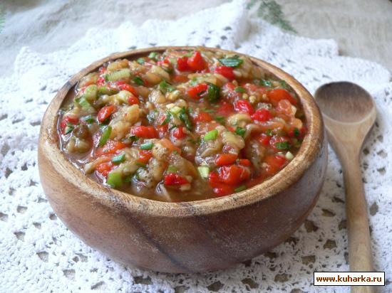 Рецепт Икра из запеченных овощей.