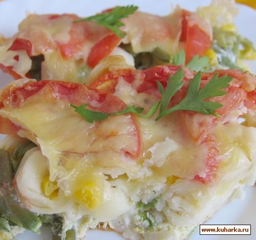 Рецепт Запеканка из тортелини и овощей