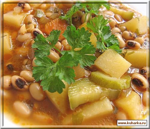 Рецепт Суп с фасолью и овощами