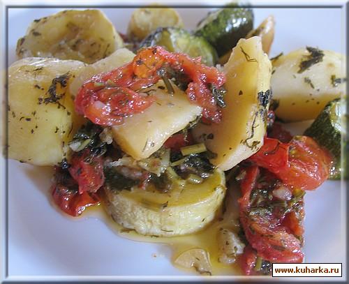 Рецепт Овощи, запеченые в духовке