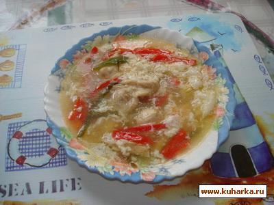 Рецепт Куриный суп с кукурузой в китайском стиле
