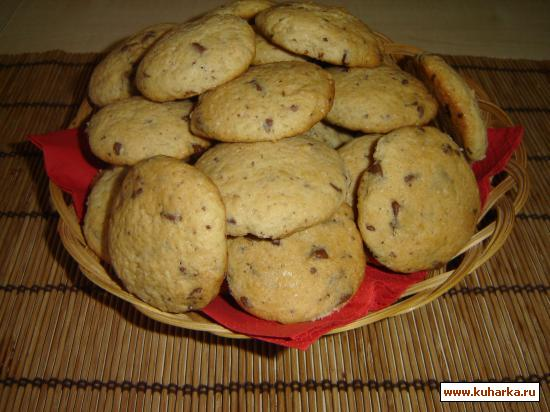 Рецепт Печенье с кусочками шоколада / Chocolate-Chip-Cookies