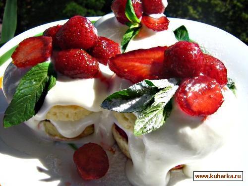 Рецепт Клубничные пирожные по-американски