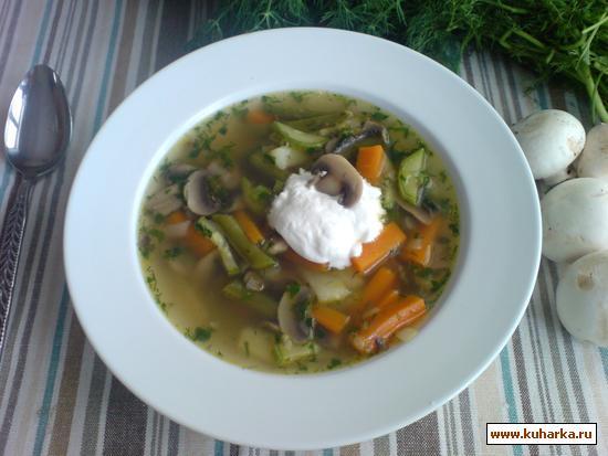 Рецепт Овощной суп с грибами