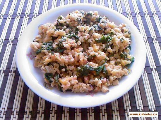 Рецепт Рис по-индийски со шпинатом