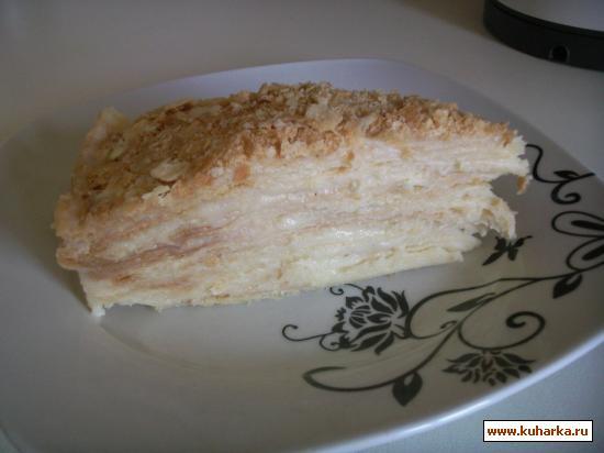 """Рецепт Тортик """"Наполеон"""" с заварным кремом"""