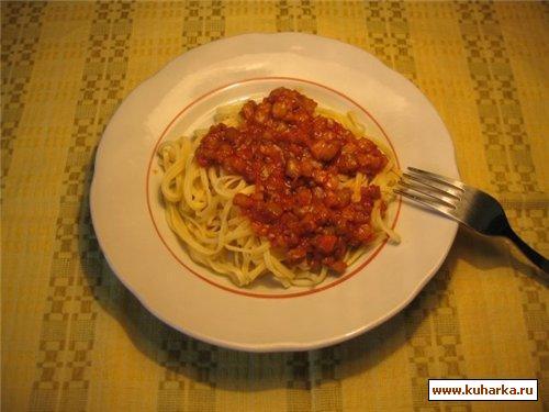 Рецепт Спагетти с соусом из баклажанов