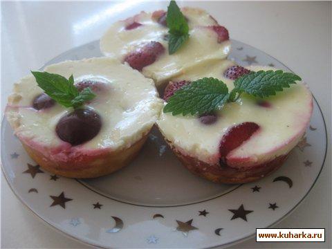 Рецепт Вишнёвый пирог со сметанным кремом