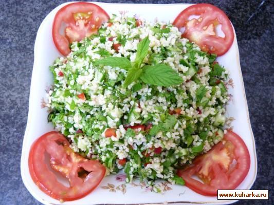 """Рецепт Иракский салат из бургуля под названием: """"Табуле"""""""