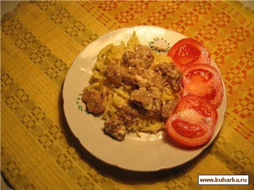 Рецепт Говядина в горчично-мучном соусе