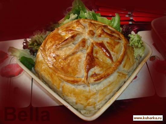 Рецепт Рис с рыбой и с грибами в слоеном тесте