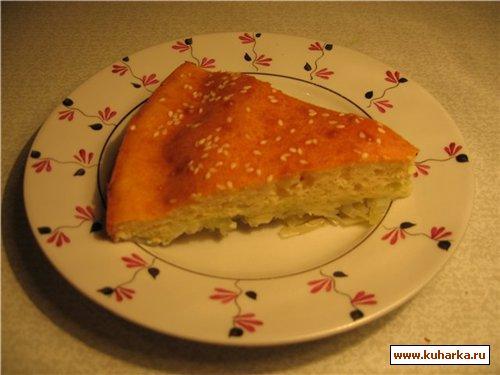 Рецепт Пирог-запеканка из капусты
