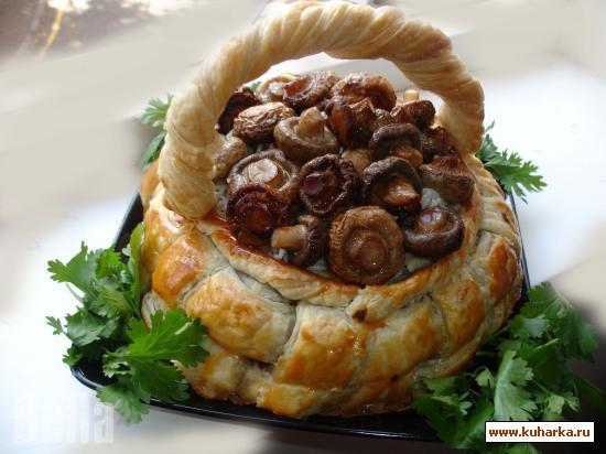 Рецепт Лукошко с грибами