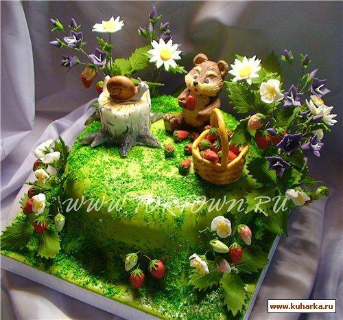 Торт полянка фото