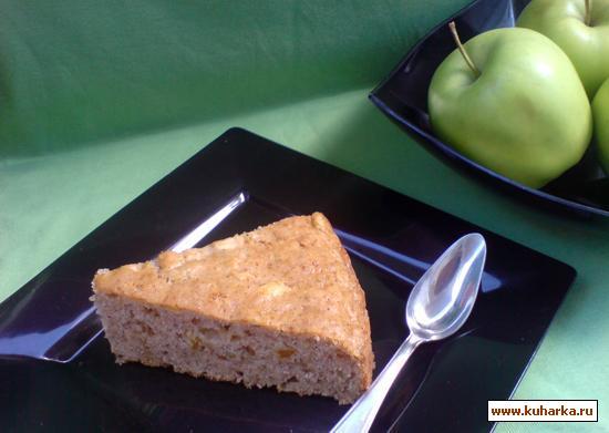 Рецепт Яблочный пирог с корицей (без яиц)