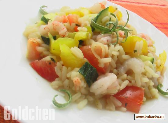 Рецепт Рис с креветками и овощами
