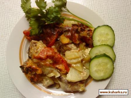 Рецепт Курица с овощами в духовке