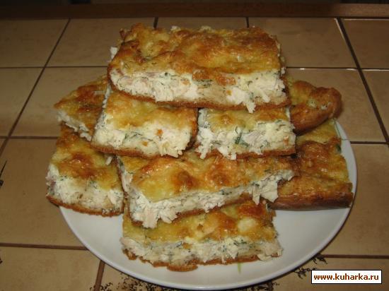 Рецепт Быстрый омлетный пирог к завтраку.