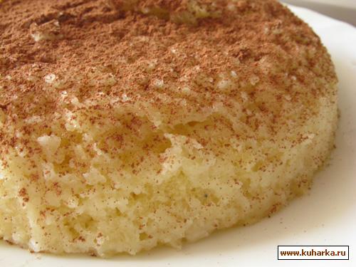 Рецепт Кокосовый бисквит в СВЧ