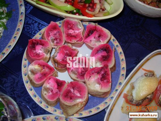 Рецепт Роллы с сельдью или шуба в блинах