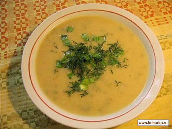 Рецепт Бархатистый суп с цуккини