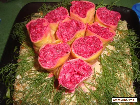 "Рецепт Салат ""Букет из роз"""