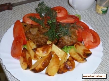 Рецепт Говядина в пиве с запеченным картофелем.
