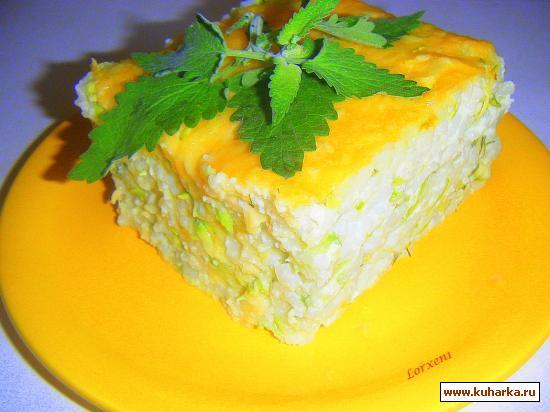 Рецепт Рисово-кабачковая запеканочка