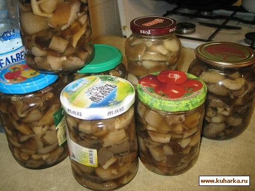 Рецепт Грибы солёные-консервированные