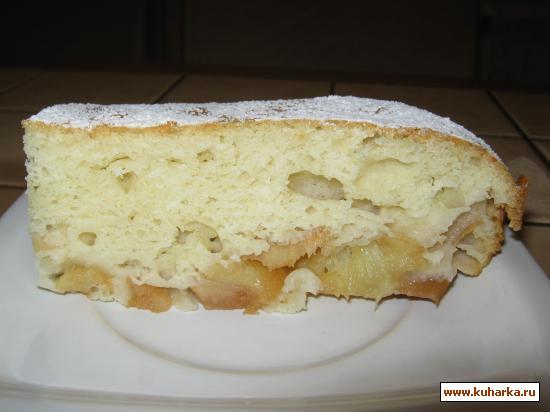 Рецепт Быстрый фруктовый пирог на кислом молоке.
