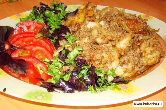 Рецепт Картошка с фаршем и майонезом