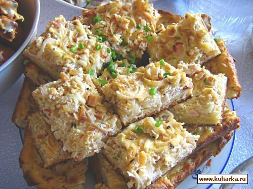 Рецепт Луковый пирог по-немецки