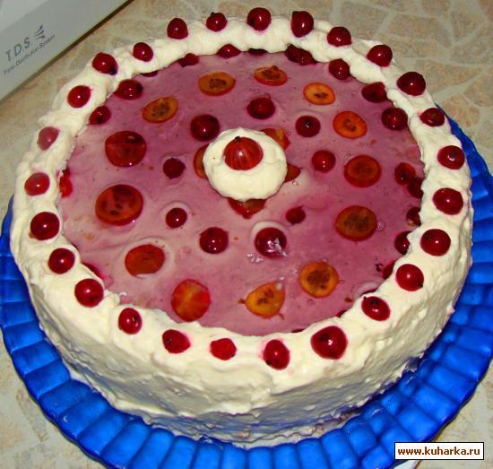 Рецепт Бисквитный торт с ягодами