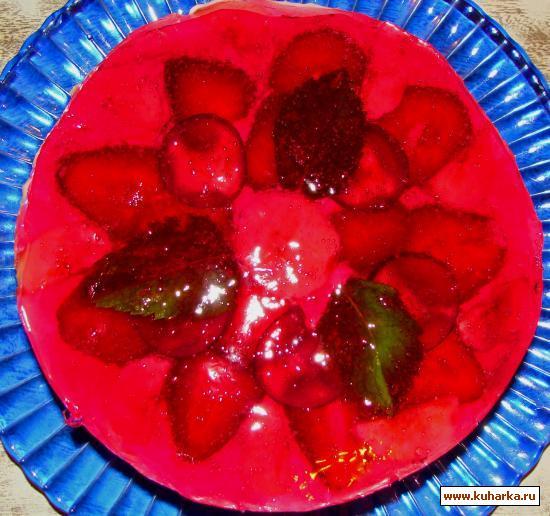 Рецепт Бисквитный торт с фруктами