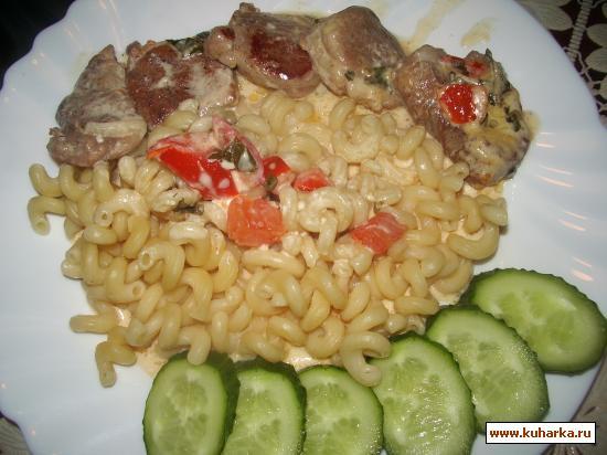 Рецепт Свинина в сырно-сливочном соусе