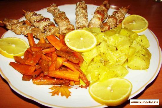 Рецепт Мини шашлычки из куриного филе