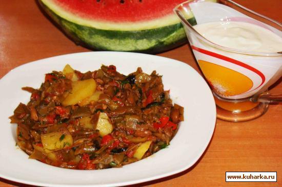 Рецепт Зеленая стручковая фасоль с овощами