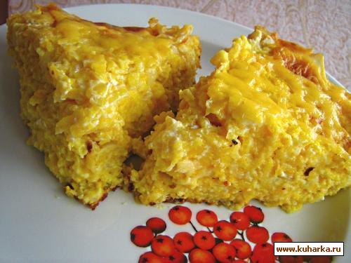 Рецепт Запеканка из тыквы с сыром