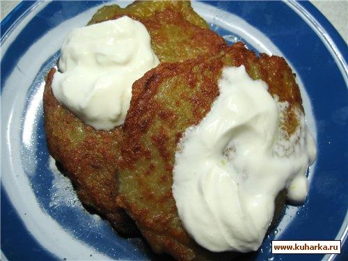 Рецепт Белорусские картофельные оладьи с мясом