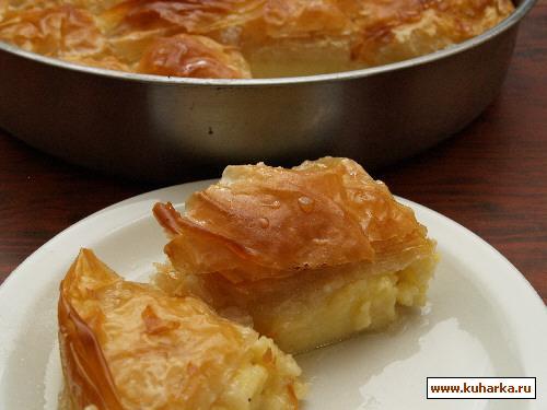Рецепт Галактобуреко (Молочный пирог)